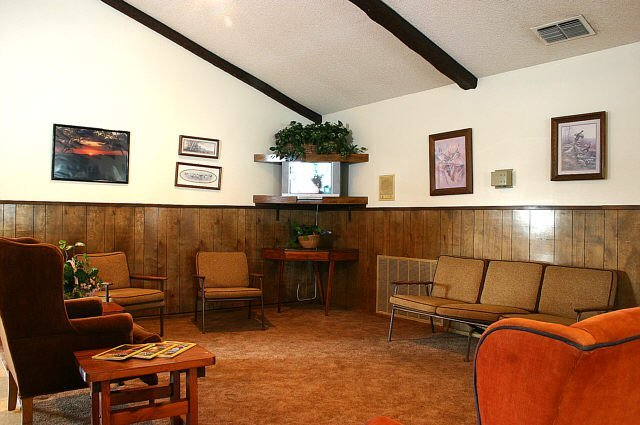 Inside green tree clubhouse