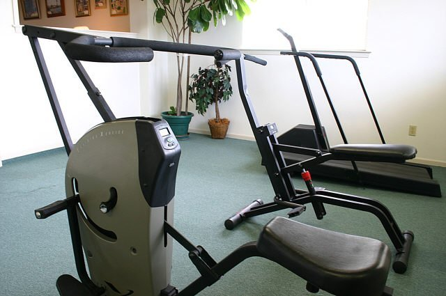 Exercise equipment at green tree village