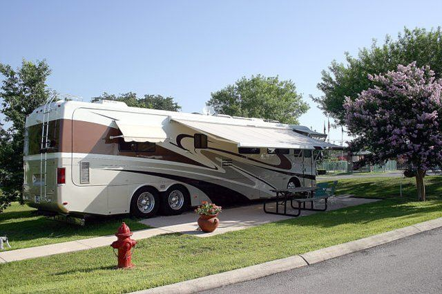 RV parked at Green tree RV site